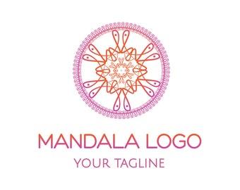 Mandala Logo, Yoga Logo, Zen Logo, Spa Logo, Hotel Logo, Photography Logo, Meditation Logo, Luxury Oriental Food, Oriental Logo,