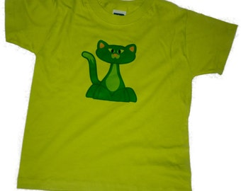 Cat print design Girls/Boys T-Shirt FREE SHIPPING within UK