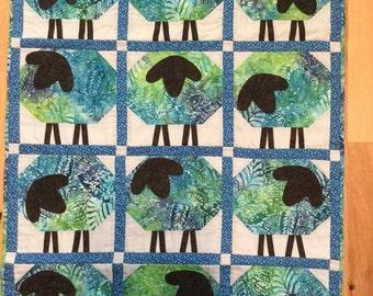 Blue Batik Lambs