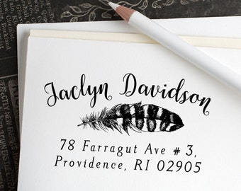 Return address stamp, Custom address stamp, Address stamp, Wedding gift, Self inking stamp, Housewarming gift, Personalized stamp