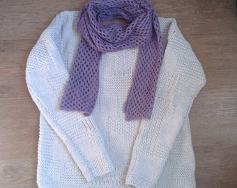 Knitted cotton Cardigan-style patchwork