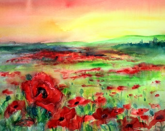 Poppy Field 2 -- by Bonnie White