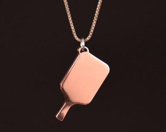 Beautiful Copper Pickleball Pendant