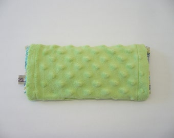 Eye Pillow with washable cover Green - Contains organic flaxseeds and lavender