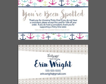 Thirty One - You've Been Spotted Card