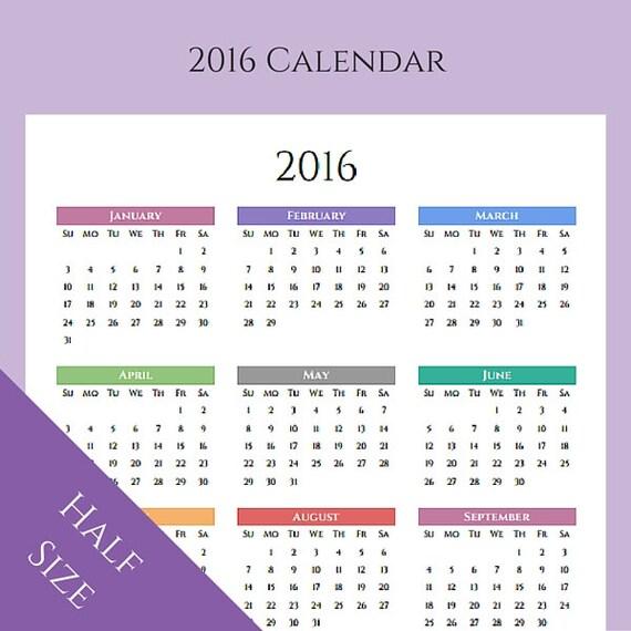 Half Year Calendar Printable : Calendar yearly planner printable by sarcasmandsweettea