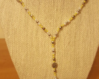 Yellow Flower Lanyard