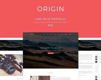 Origin - PSD Responsive Portfolio and Photography Website Template (more screenshots below)