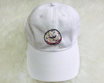 Sprinkled Donut Embroidered Baseball Cap