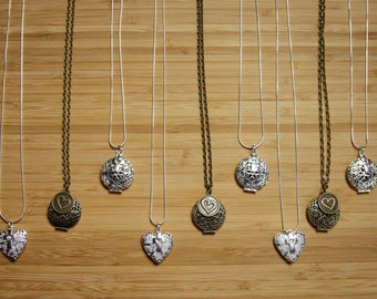 Bulk- 9 Essential oil diffuser necklaces- 3 of each design or buyers choice of designs pictured