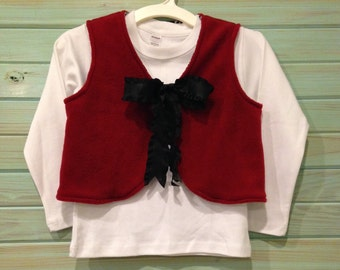 Reversible houndstooth/crimson vest by That's Sew Mimi