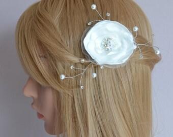 Bridal flower fascinator Bridal tiara flower.
