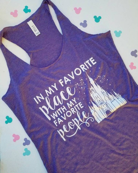 In my favorite place screen printed disney by for Places that print pictures on shirts