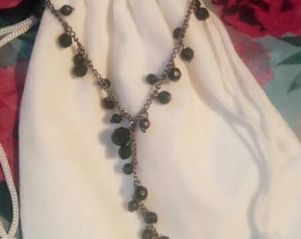 Black bead chain necklace