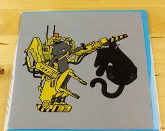 Alien Cat Card