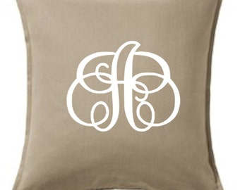 Custom Monogrammed Pillow COVER ONLY