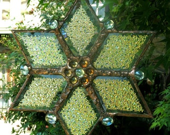 Star Mobile for Home and Garden with Dichroic Glass