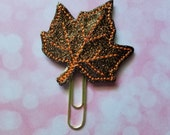 Brown Leaf Planner clip - Paperclip Bookmark -  Bookmark -  Paperclip - Planner Bookmark - Paperclip Bookmark - Planner Clips