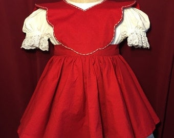 Girls Apron and Dress Outfit