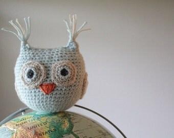 Crochet Owl ~ Alexander the Owl ~ Crochet Amigurumi ~ Crochet Stuffed Plush Owl Toy ~ Baby Nursery Decor  ~ READY TO SHIP