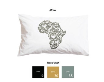 Floral Africa Printed Pillowcases