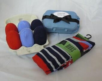 Mens Sock Eggs. Sock Cupcakes. Handmade Novel Gift.