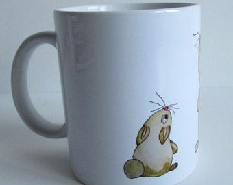 Cup with Hare illustration