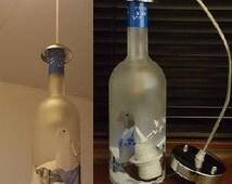 Grey Goose Light Lamp Shade Fitting Upcycled Glass Vodka Bottle Lampshade