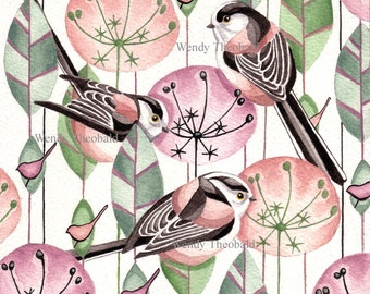 A Trio of Long Tailed Tits
