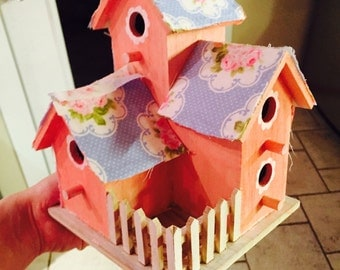 Sweet fabric birdhouse