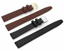 length Men Women Black Brown Leather Wrist Watch Band Watches Strap16 18 mm