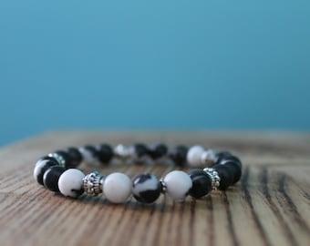 Bracelet - Zebra Jasper Beads