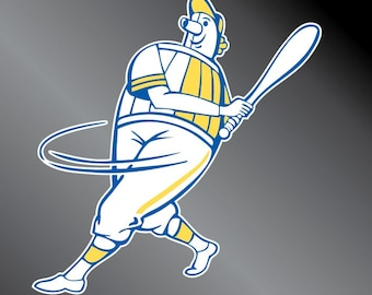 Milwaukee Brewers Barrel Man Decal Sticker