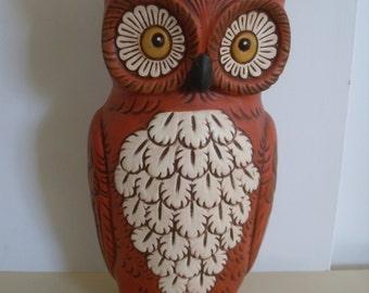 Ceramic Owl Planter, Owl Decor, Garden Decor