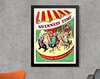 Guinness Time: Summer 1948 Guinness Stout Advertising Poster Print