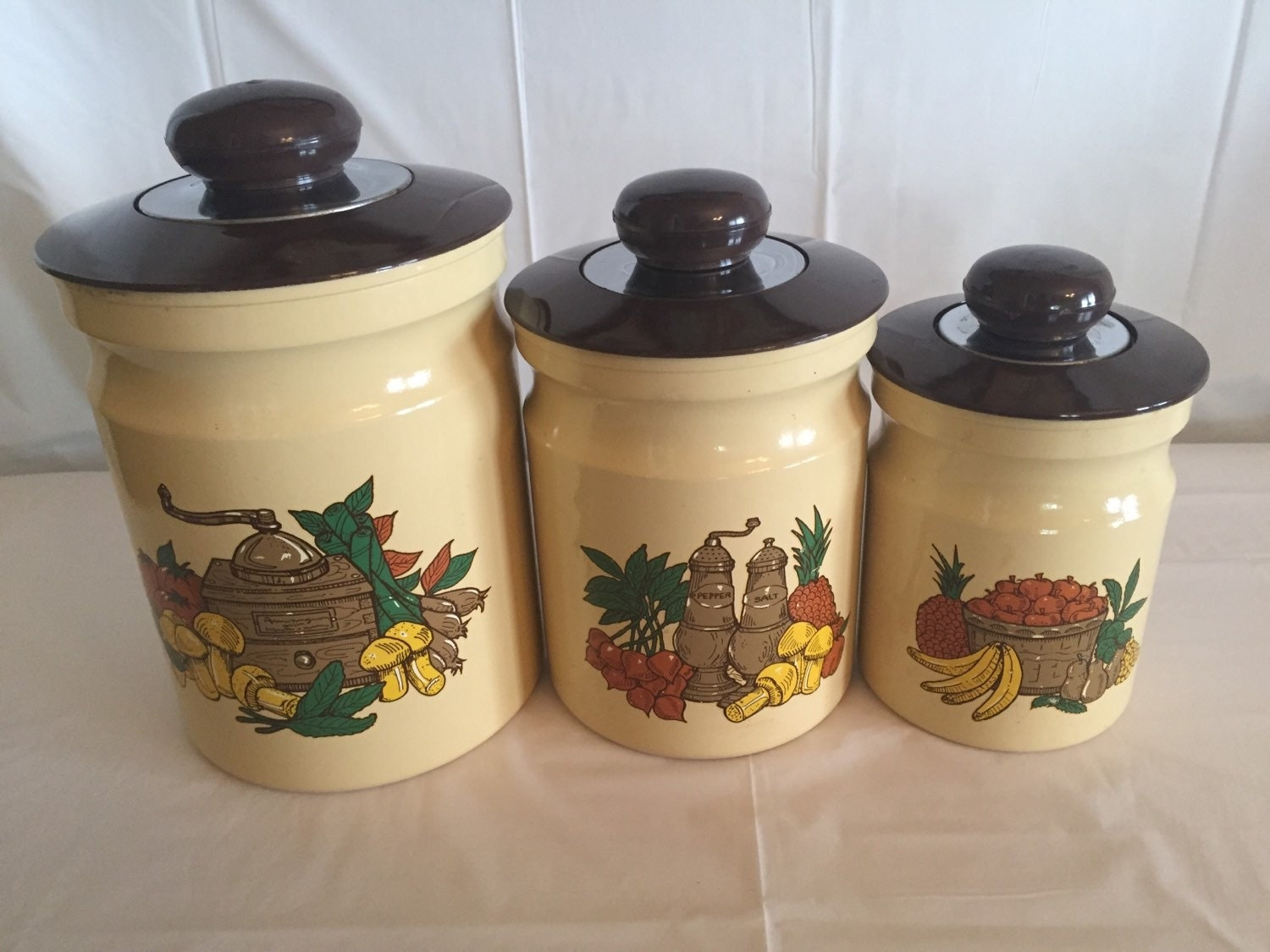 kitchen canister set canister set kitchen canister set vintage canister set 864