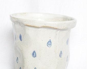 Glossy Raindrop Stoneware Beaker