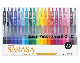 "Japanese Stationery,""Zebra  Aqueous ballpoint pen Sarasa clip 0.5 20 color set"",JJ15-20CA"
