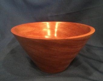 African Mahogany wood bowl