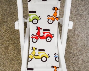 Smart Phone Stand-Cell Phone Stand-Novelty Deck Chair-Scooter Fabric-iPad Stand-Wedding Favour-Gift for Him-Gift for Her-Gift for Teens