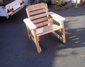 Rustic garden chairs