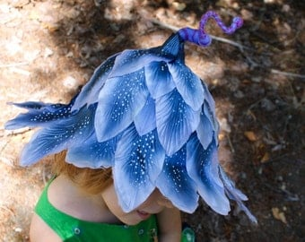 Fairy hat, flower fairy hat, cute pixie hat, Blossom hat, festival hat, OOAK child's hat