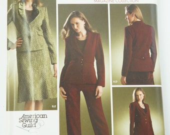 UNCUT Simplicity Paper Sewing Pattern 3962 Misses Jacket, Pants, Skirt Size BB 20W-28W 2006 Magazine Collection