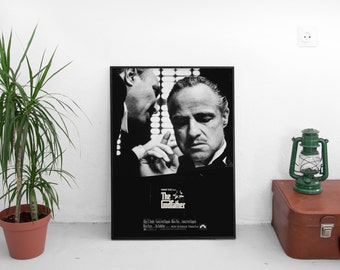 The Godfather 1972 Vintage Style Poster Marlon Brando