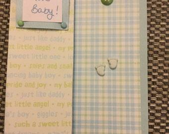 Handmade New Baby Card