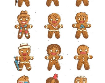 12 Gingerbread Doctors Inspired Cross Stitch Doctor Who Crossover