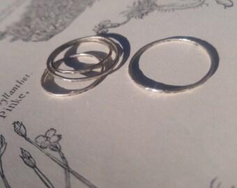 Sterling  Mercury stacking ring
