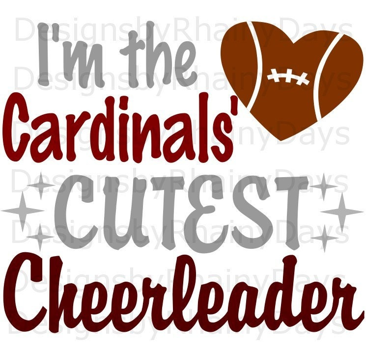 Buy 3 get 1 free! I'm the Cardinals' cutest cheerleader SVG, PNG, cutting file football