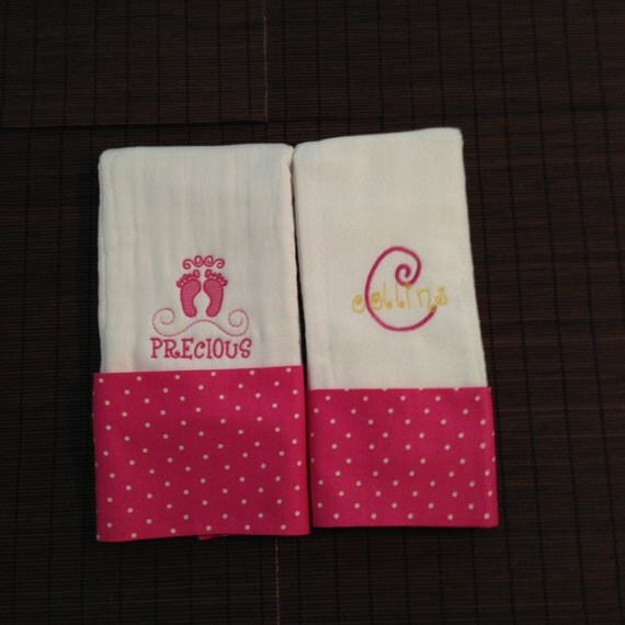 Baby burp cloth Set, Burp cloths, Embroidered burp cloths, Personalized burp cloth, Custom burp cloth, Monogrammed burp cloth