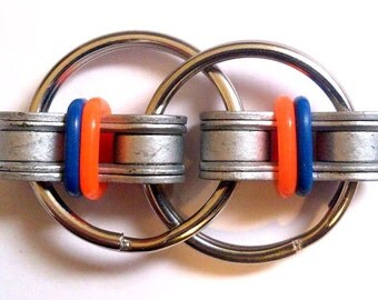 Blue and Neon Orange Fidget Toy for Autism, ADD, ADHD & Idle Hands
